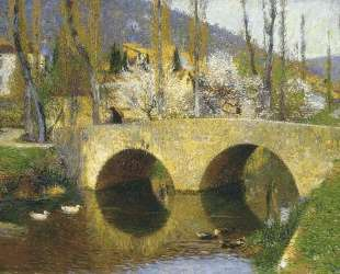 The Bridge at Labastide du Vert in Spring — Анри Мартен