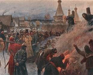 Сожжение протопопа Аввакума — Григорий Мясоедов