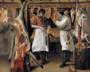 The Butcher`s Shop — Аннибале Карраччи