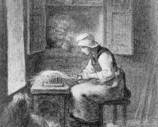 Чесальщик — Жан-Франсуа Милле