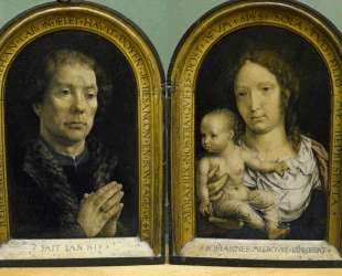 The Carondelet Diptych: Jean Carondelet (left panel), Virgin and Child (right panel) — Мабюз