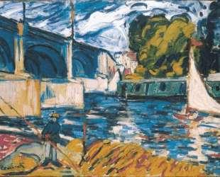 The Chatou Bridge — Морис де Вламинк