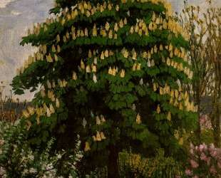 The chestnut tree in blossom — Франтишек Купка