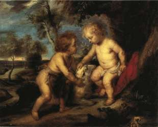 The Christ Child and the Infant St. John after Rubens — Теодор Клемент Стил