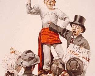 The Circus Barker — Норман Роквелл