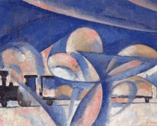 The Composition with the Train — Ольга Розанова
