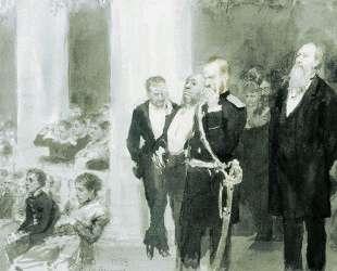 Во время концерта в дворянском собрании — Илья Репин