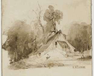 Домик в роще — Эжен Делакруа