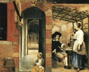 The Courtyard of a House in Delft — Питер де Хох