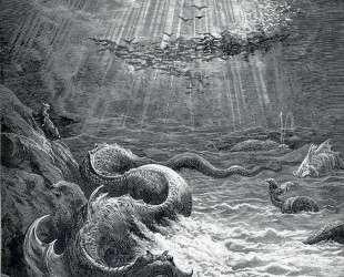 Сотворение рыб и птиц. Иллюстрация к поэме Джона Мильтона 'Потерянный рай' — Гюстав Доре