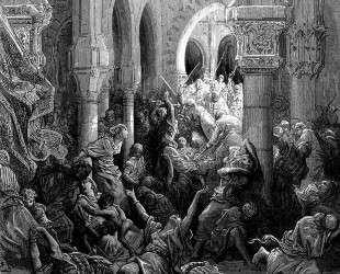 Крестоносцы режут жителей Кесарии — Гюстав Доре
