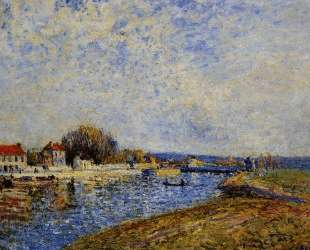 The Dam, Loing Canal at Saint Mammes — Альфред Сислей