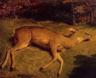 Мертвая олениха — Гюстав Курбе