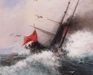 Гибель корабля в море — Алексей Саврасов