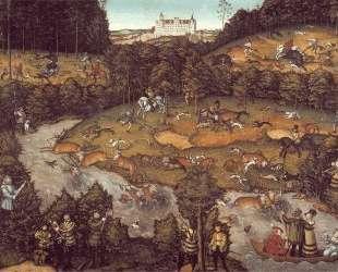 Охота на оленя — Лукас Кранах Старший