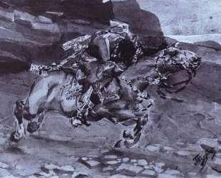 Скачущий всадник ('Несется конь быстрее лани…') — Михаил Врубель