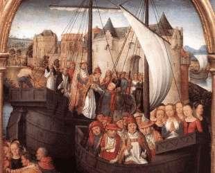 Отплытие Св. Урсулы из Базеля (Рака Св. Урсулы) — Ганс Мемлинг