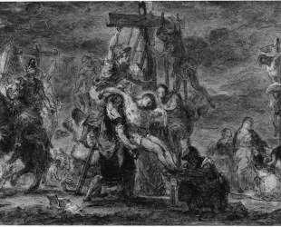 Снятие со креста — Эжен Делакруа