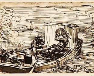 Обед на лодке — Шарль-Франсуа Добиньи