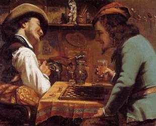 Игра в шашки — Гюстав Курбе