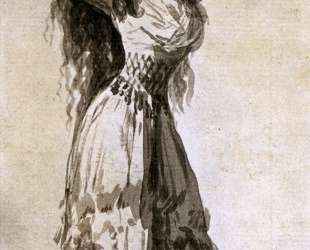 The Duchess of Alba Arranging her Hair — Франсиско де Гойя