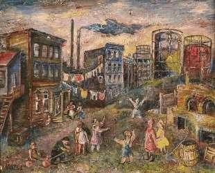 Окраина города — Давид Бурлюк