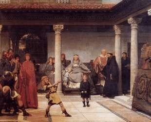 Обучение детей Хлодвига — Лоуренс Альма-Тадема