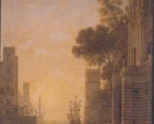 The Embarkation of St. Paula in Ostia — Клод Лоррен