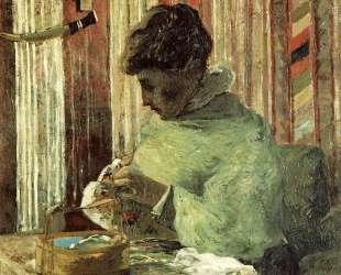 Вышивальщица, или Метте Гоген — Поль Гоген