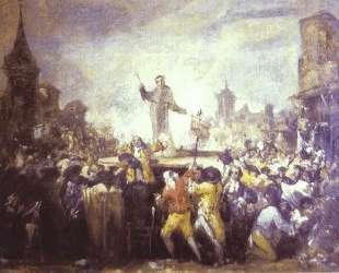 The Esquilache Riots — Франсиско де Гойя