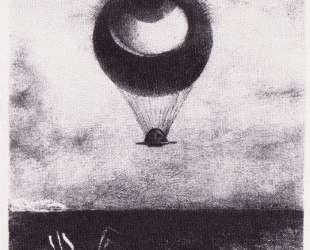 The eye like a strange balloon goes to infinity — Одилон Редон