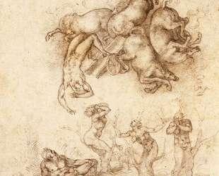 The Fall of Phaeton — Микеланджело