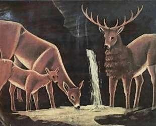 Семья оленей — Нико Пиросмани