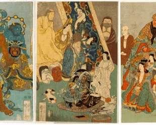 The Famous Unrivalled Hidari Jingoro — Утагава Куниёси