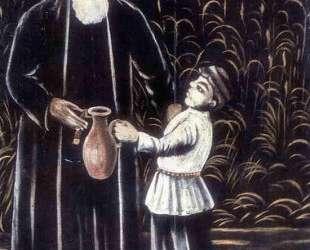 Крестьянин с внуком — Нико Пиросмани