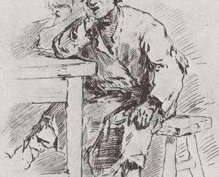 The farmer at the table — Виктор Васнецов