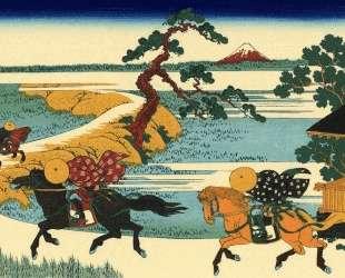 The Fields of Sekiya by the Sumida River — Кацусика Хокусай