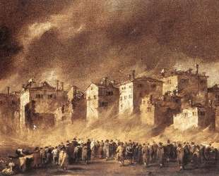 The Fire at San Marcuola — Франческо Гварди