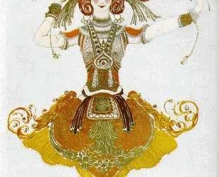 Эскиз костюма Тамары Карсавиной к балету «Жар-Птица» — Леон Бакст