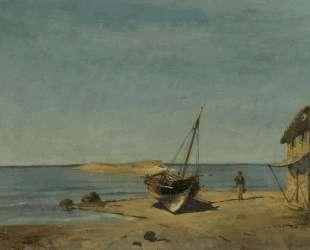 The fisherman's home on the beach — Константинос Воланакис