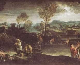 The fishing — Аннибале Карраччи