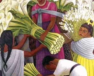 The Flower Seller — Диего Ривера