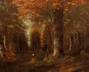 Лес осенью — Гюстав Курбе