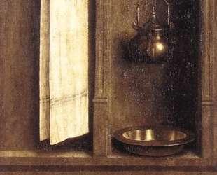 Гентский алтарь (деталь внешней стороны правой створки) — Ян ван Эйк