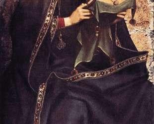 Гентский алтарь, Дева Мария — Ян ван Эйк