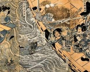 The ghost of Taira Tomomori — Утагава Куниёси