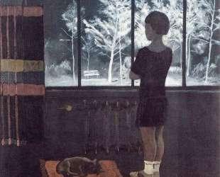 Девочка у окна. Зима — Александр Дейнека
