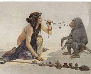 The girl with monkey — Сергей Соломко