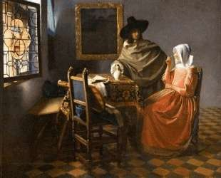 The glass of wine — Ян Вермеер
