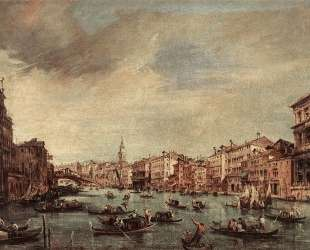 The Grand Canal, Looking toward the Rialto Bridge — Франческо Гварди